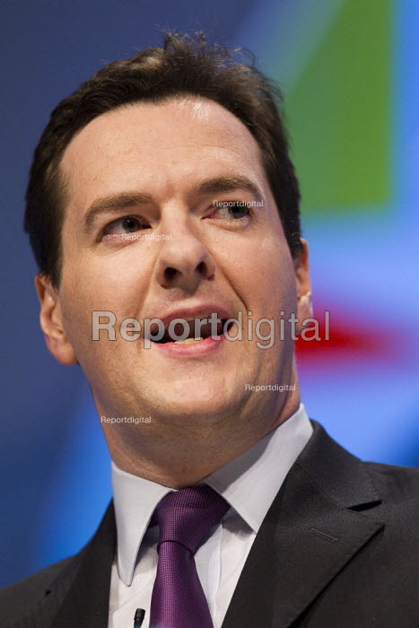 George Osborne MP. Conservative Party Conference, Manchester, 2011. - Jess Hurd - 2011-10-03