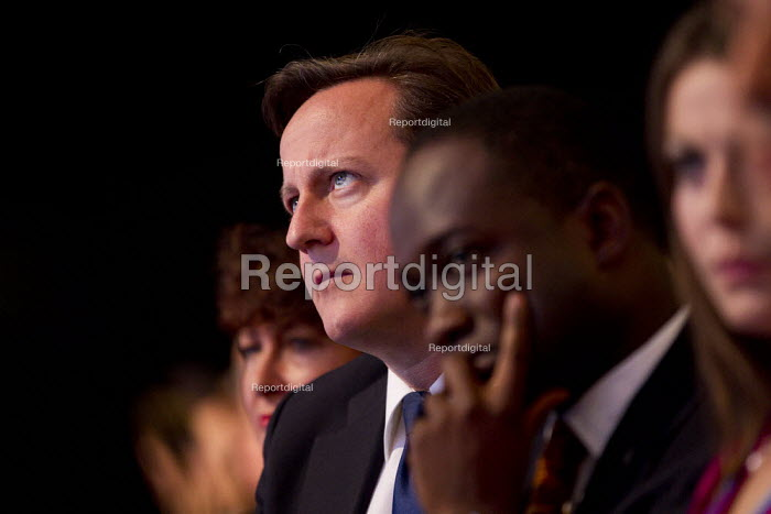 David Cameron listens to George Osborne speaking at Conservative Party Conference, Manchester, 2011. - Jess Hurd - 2011-10-03