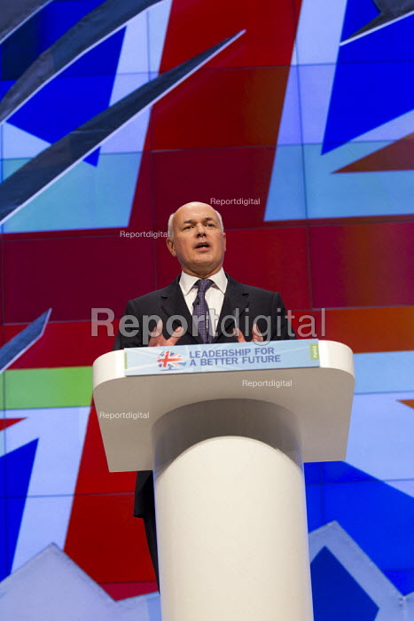 Iain Duncan Smith. Conservative Party Conference, Manchester, 2011. - Jess Hurd - 2011-10-03