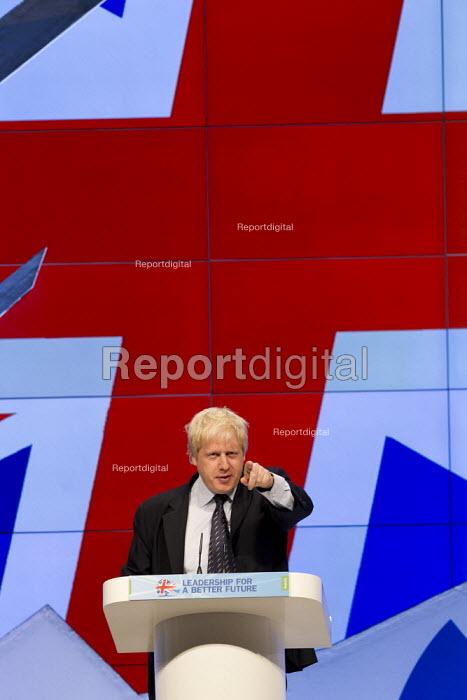 Boris Johnson Mayor of London. Conservative Party Conference, Manchester, 2011. - Jess Hurd - 2011-10-04