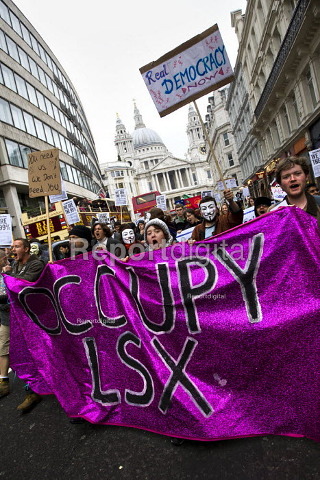 Occupy LSX march to Parliament. London. - Jess Hurd - 2011-11-05