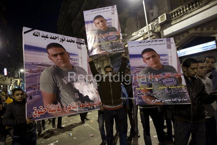 Uprising against the military junta. Al-Tahrir (Liberation Square), Cairo, Egypt - Jess Hurd - 2011-11-22