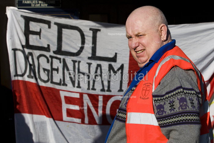 EDL chief steward. English Defence League march in Dagenham, Essex. - Jess Hurd - 2012-01-14