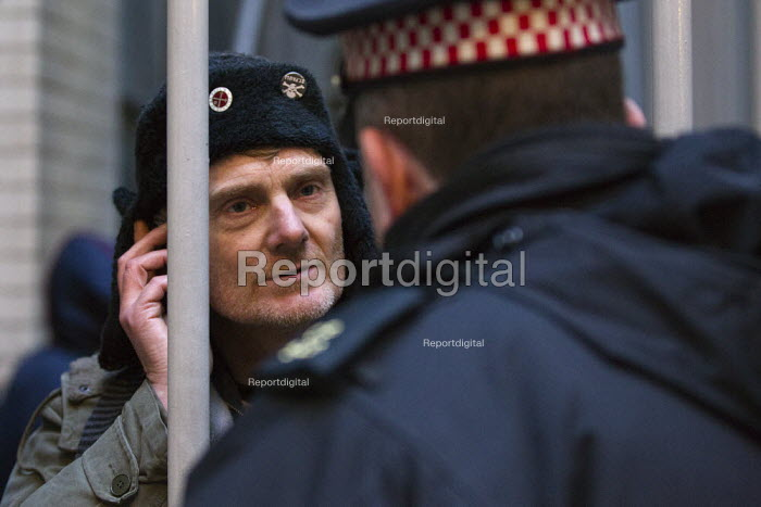 Occupy London protesters take over a branch of the Iraqi Rafidain Bank in the main financial district London, and are informed by police that commercial attache building actually had foreign consulate status. City of London. - Jess Hurd - 2012-01-27
