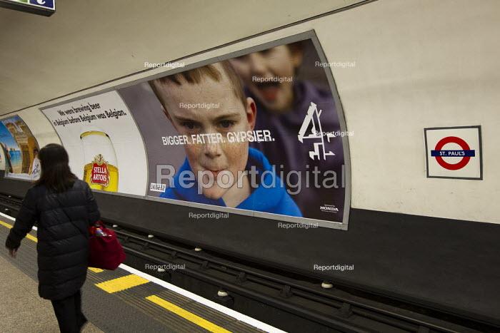 Channel 4 Big Fat Gypsy Wedding documentary advertising, London underground station - Jess Hurd - 2012-02-22