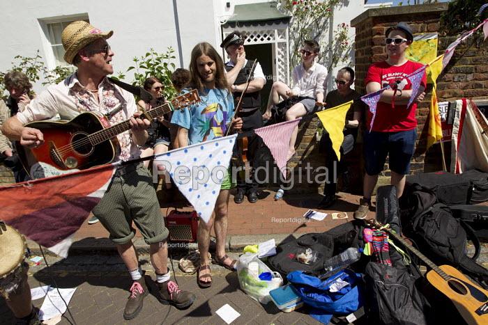 UK Uncut Great London Street Party outside Nick Clegg MP's London home. Putney. - Jess Hurd - 2012-05-26