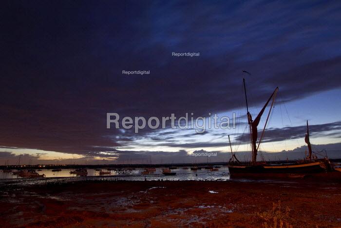 Mersea Island fishing harbour at sunset. North East Essex - Jess Hurd - 2012-09-27