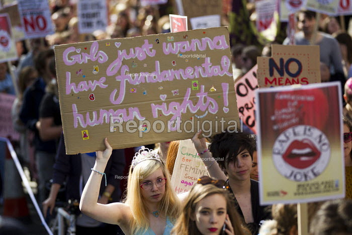 Slutwalk against rape and sexual violence, for safety and justice. London. - Jess Hurd - 2012-09-22