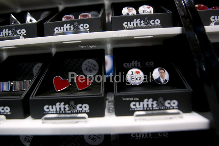 I love Ed Miliband MP. Cufflinks on sale Cuffs&co. Labour Party Conference 2012, Manchester. - Jess Hurd - 2012-09-30