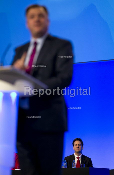 Ed Miliband and Ed Balls MP. Labour Party Conference 2012, Manchester. - Jess Hurd - 2012-10-01
