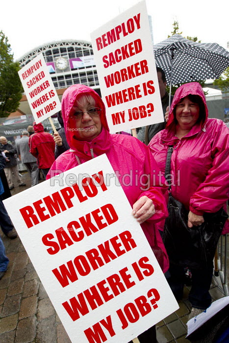 Remploy workers protest against closures, Labour Party Conference 2012, Manchester. - Jess Hurd - 2012-10-02