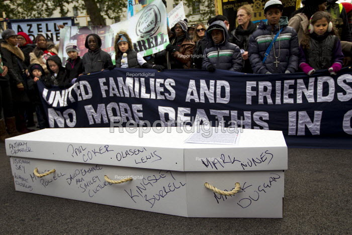 United Families and Friends Campaign protest and rally against custody deaths and abuse. Whitehall, London. - Jess Hurd - 2012-10-27