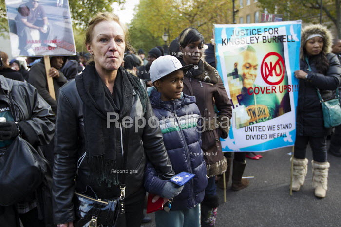 Mother of Mark Duggan. United Families and Friends Campaign protest and rally against custody deaths and abuse. Whitehall, London. - Jess Hurd - 2012-10-27