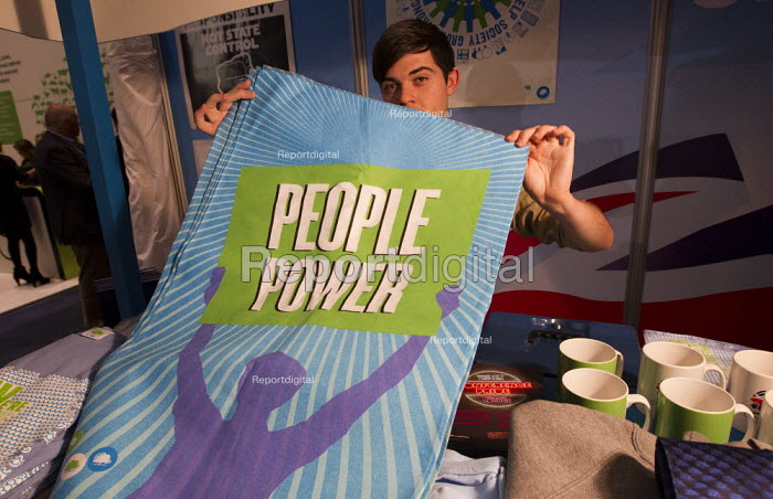 Conservative Party Conference stall, People Power tea towel. 2012, Birmingham. - Jess Hurd - 2012-10-08