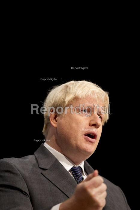 Boris Johnson MP. Conservative Party Conference 2012, Birmingham. - Jess Hurd - 2012-10-09