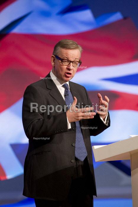 Michael Gove MP. Conservative Party Conference 2012, Birmingham. - Jess Hurd - 2012-10-09