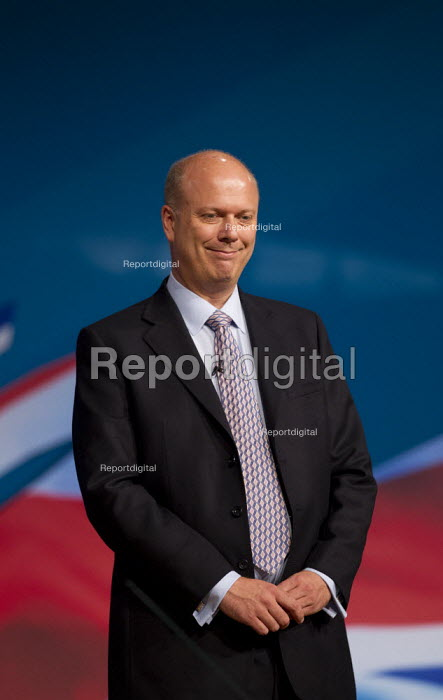 Chris Grayling MP. Conservative Party Conference 2012, Birmingham. - Jess Hurd - 2012-10-09