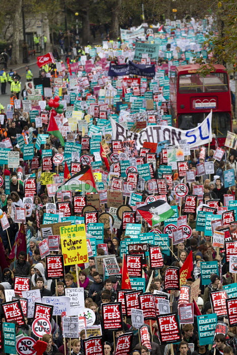 Freedom is a future with no price tag - placard. National Student Demonstration - Educate, Employ, Empower. London. - Jess Hurd - 2012-11-21