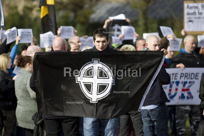Far right extremists celebrating Worldwide White Pride Day, Swansea, Wales. - Jess Hurd - 2013-03-09