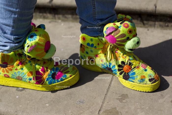 Birmingham youth fashion, Adidas, Flower Teddy Sneakers by Jeremy Scott. West Midlands. - Jess Hurd - 2013-07-06