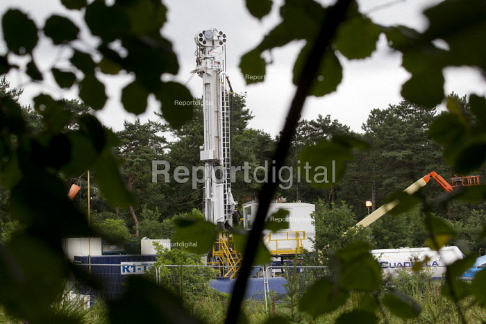 Cuadrilla Resources Fracking rig who are drilling in Balcombe, West Sussex. - Jess Hurd - 2013-07-31
