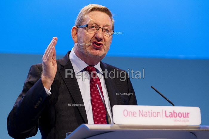 Len McCluskey, Unite Gen Sec. speaking Labour Party Conference 2013. Brighton. - Jess Hurd - 2013-09-23