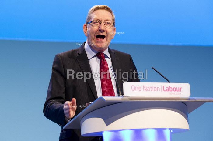 Len McCluskey, Unite Gen Sec. speaking Labour Party Conference 2013. Brighton. - Jess Hurd - 2013-09-23