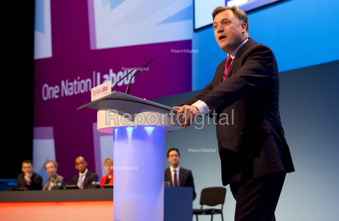 Ed Balls MP and Ed Miliband MP. Labour Party Conference 2013. Brighton. - Jess Hurd - 2013-09-23