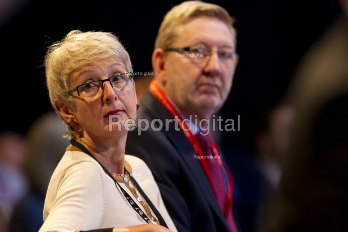 Len McCluskey and Gail Cartmail Unite the Union. Labour Party Conference 2013. Brighton. - Jess Hurd - 2013-09-23