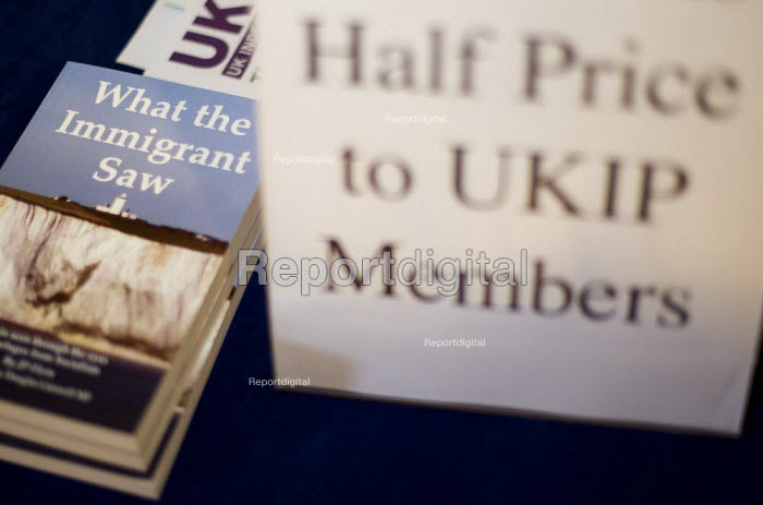 What The Immigrant Saw - book on sale. UK Independence Party Annual Conference, Westminster Central Hall, London. - Jess Hurd - 2013-09-20