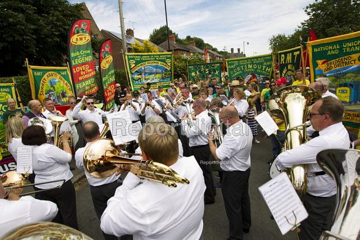 RMT remembers Bob Crow RIP. Tolpuddle Martyrs Festival. Dorset. - Jess Hurd - 2014-07-19