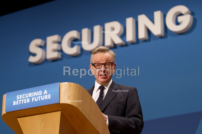Michael Gove MP. Conservative Party Conference, The ICC Birmingham - Jess Hurd - 2014-10-01