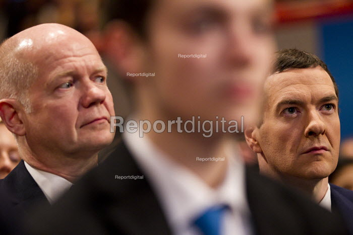 William Hague MP and George Osborne MP. Conservative Party Conference, The ICC Birmingham - Jess Hurd - 2014-10-01