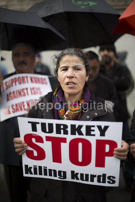 Kurds protest in support Kobane against ISIS attack, Trafalgar Square. - Jess Hurd - 2014-10-09