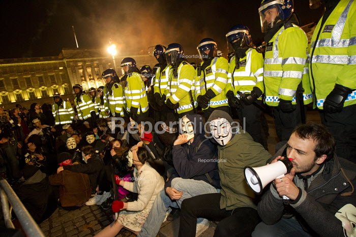 Anonymous Million Mask March, Westminster. London. - Jess Hurd - 2014-11-05