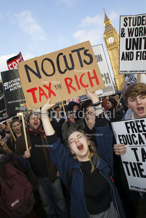 No Cuts tax the rich! Thousands of students march against debt and for free education, London. - Jess Hurd - 2014-11-19
