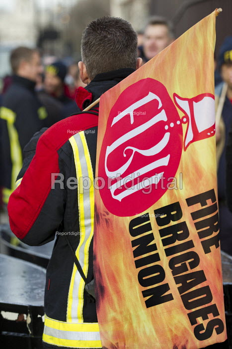 West Midlands firefighters lobby MP's ahead of House of Commons pensions debate. Westminster, London. - Jess Hurd - 2014-12-15