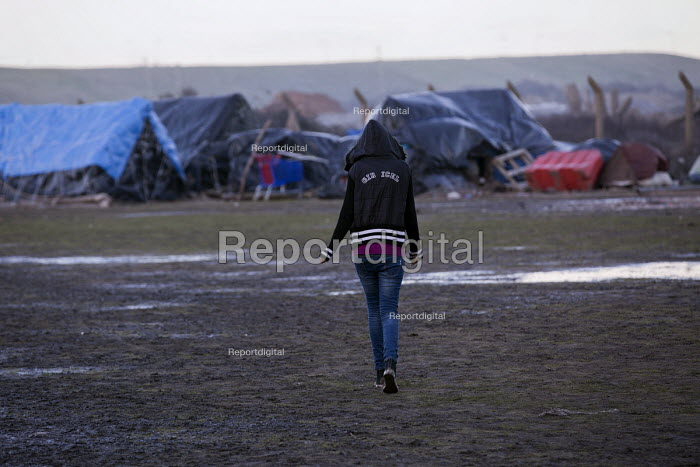 Appauling living conditions for Calais migrants living in the jungle. France. - Jess Hurd - 2015-01-13