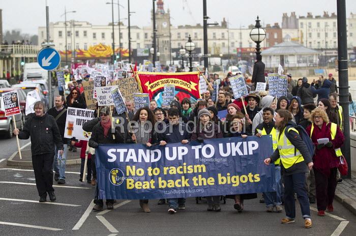 Stand up to UKIP protest outside UKIP Spring Conference. Margate, Kent. - Jess Hurd - 2015-02-28