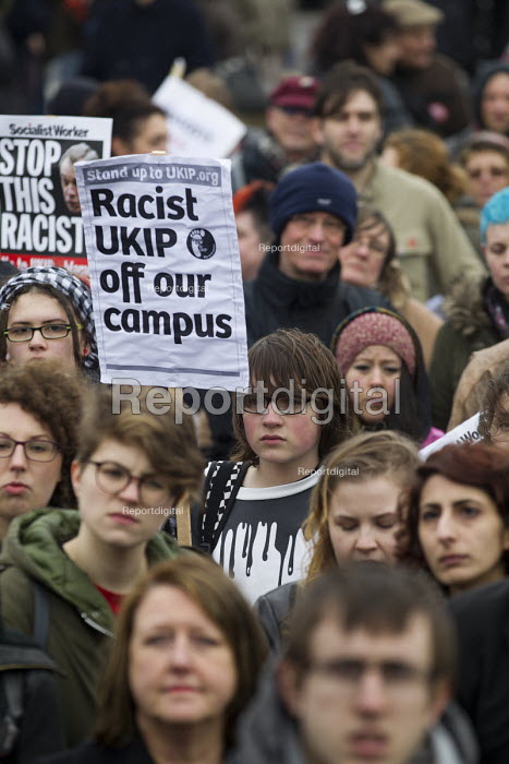 Racist Ukip off our campus. Stand up to UKIP protest outside UKIP Spring Conference. Margate, Kent. - Jess Hurd - 2015-02-28