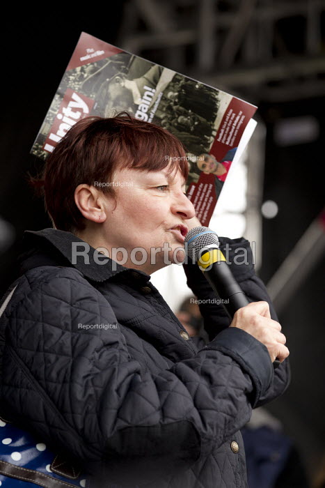 Christine Blower NUT. Stand up to racism & fascism, national demonstration. London. - Jess Hurd - 2015-03-21