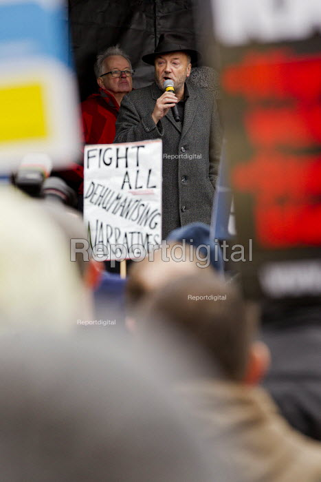 George Galloway MP. Stand up to racism & fascism, national demonstration. London. - Jess Hurd - 2015-03-21