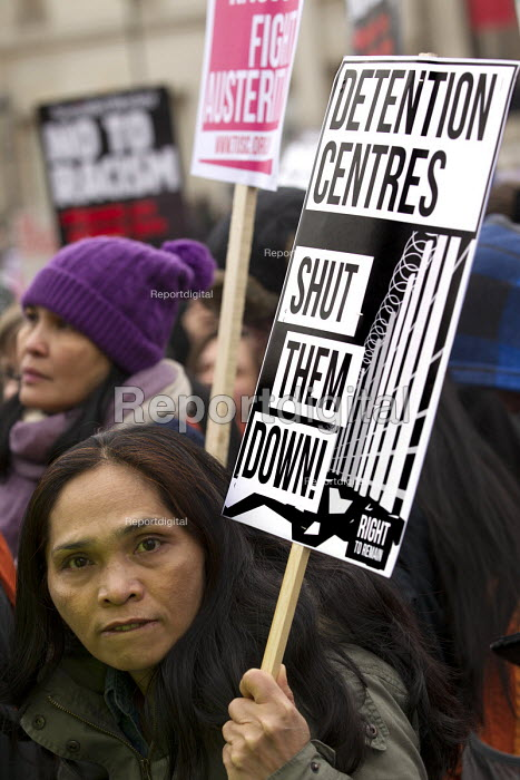 Detention Centres - Shut them down. Stand up to racism & fascism, national demonstration. London. - Jess Hurd - 2015-03-21