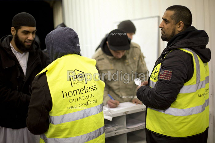 As-suffa Institute an Islamic community organisation, the Birmingham Food Drive, providing a hot meal and a friendly environment for homeless and vulnerable people. Birmingham City Centre. - Jess Hurd - 2015-02-13