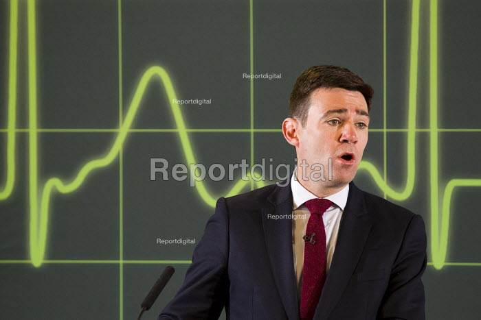 Andy Burnham MP speaking, Launch of NHS week, including new analysis of Conservative plans, a poster launch and Q&A, London. - Jess Hurd - 2015-04-20
