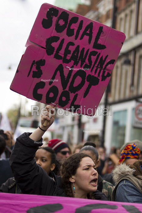 A Gathering to Reclaim Brixton. Against gentrification and regeneration that does not benefit the existing community. South London. - Jess Hurd - 2015-04-25