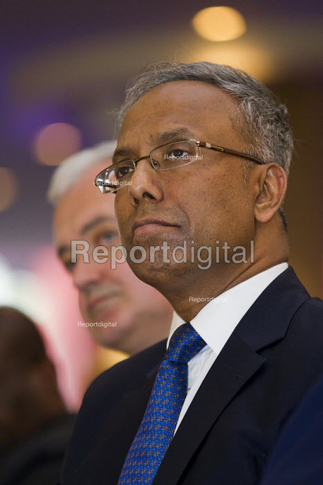 Lutfur Rahman and Andrew Murray. Defend Democracy in Tower Hamlets. Community leaders speak out against the removal of Tower Hamlets, Mayor Lutfur Rahman and the banning of his organisation. East London. - Jess Hurd - 2015-04-30