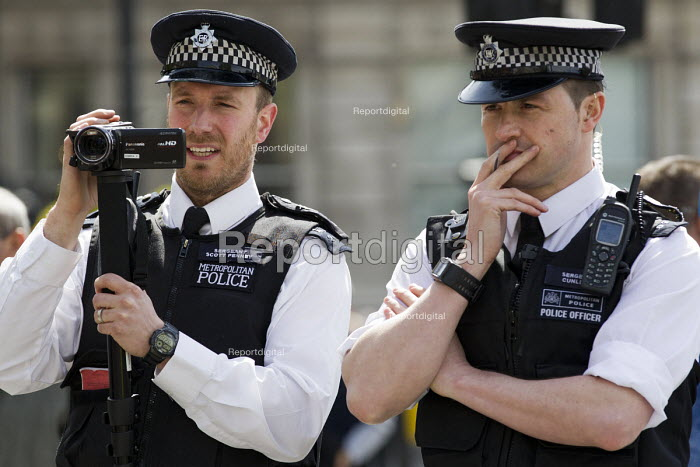 Police surveillance. May Day, International Workers Day protest. London. - Jess Hurd - 2015-05-01