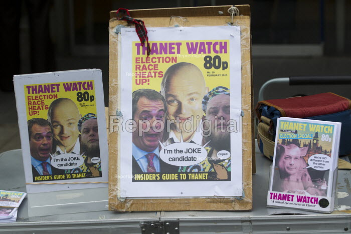 Thanet Watch covers, UKIP election campaigning for Nigel Farage and the No UKIP campaigners. Thanet. - Jess Hurd - 2015-05-02