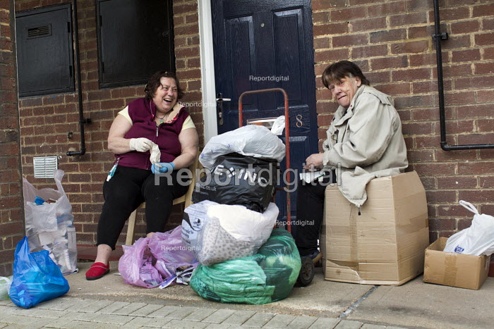 Carol and Linda talking politics on their doorstep. Carol... - Jess Hurd, jj1505137.jpg
